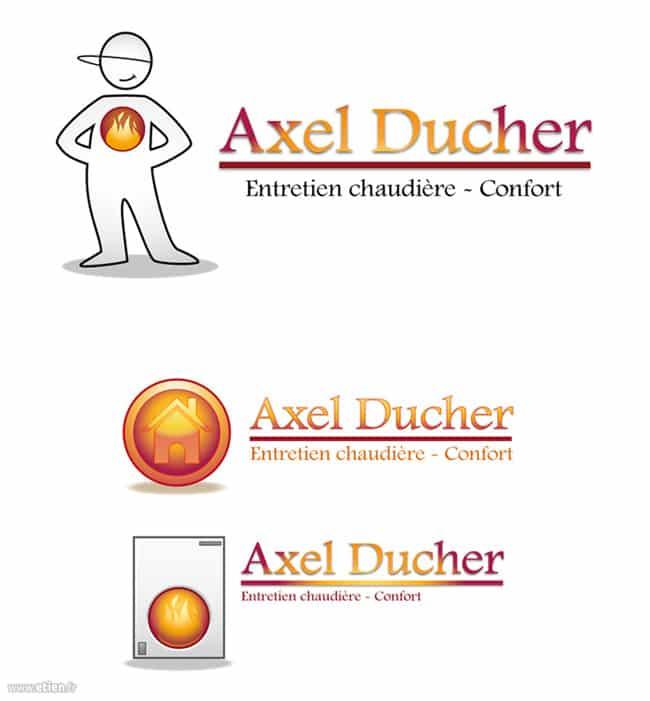 Création de logo pour un chauffagiste<br/> Illustrator Cs5<br/> 2012