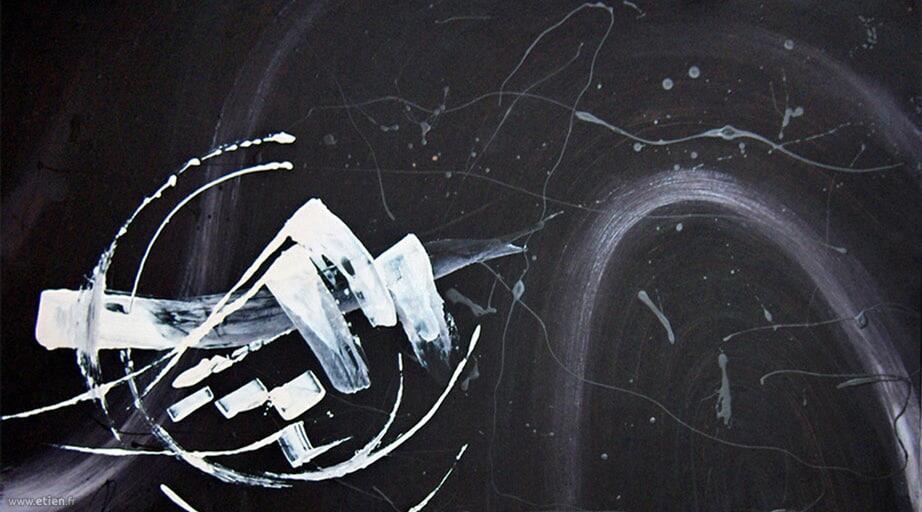 Acrylique et laque sur bois<br/> 1m x 60cm<br/> 2004