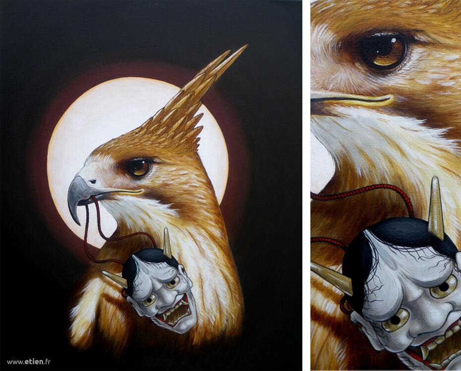 Acrylique sur toile<br/> 50cm x 40cm<br/> 2013