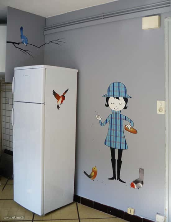 Décoration de cuisine<br/> Aérosol - 2m2 env.<br/> Echirolles (38) - 2011