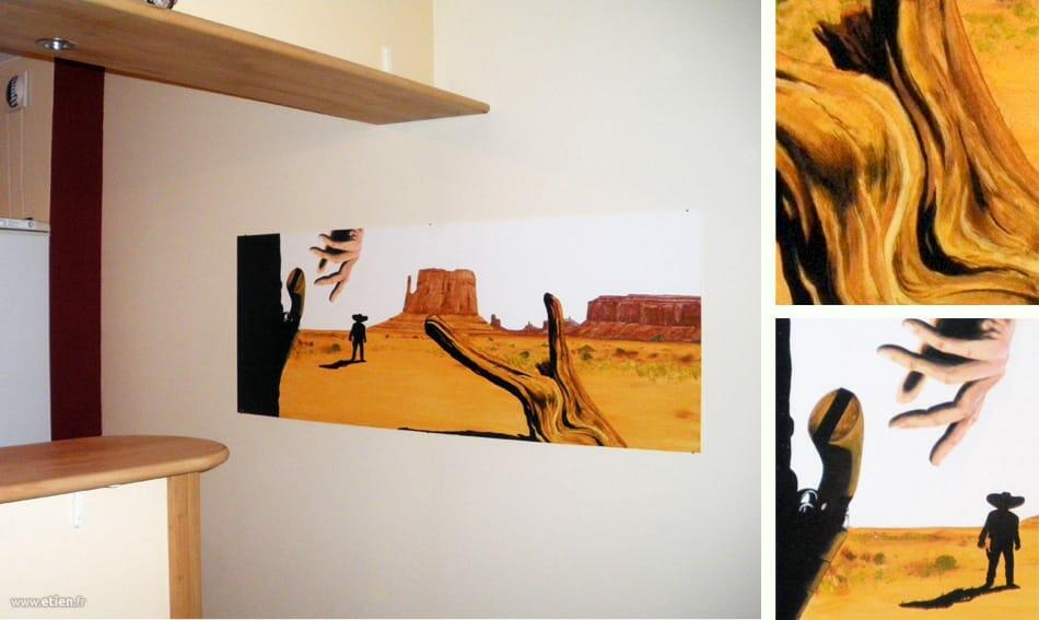 Acrylique sur PVC<br/> 1m50 x 70cm<br/> Pont de Claix (38) - 2011