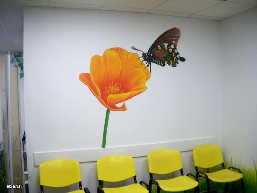 fresque-cabinet-dentiste-papillon