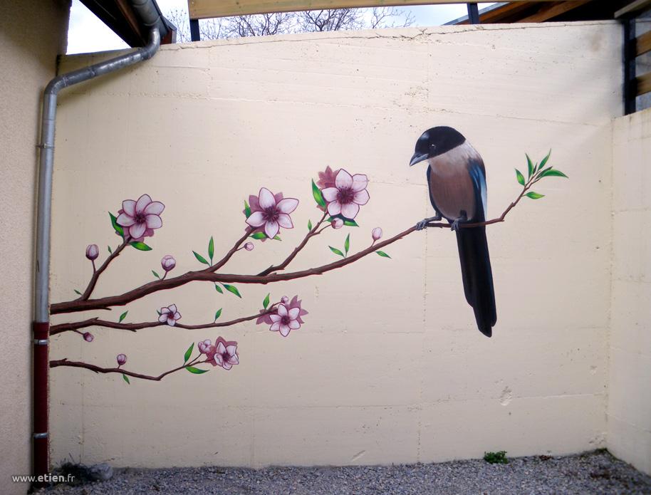 Fresque chez un particulier</br> Acrylique sur mur - env. 12m2</br> Mens (38) - 2013