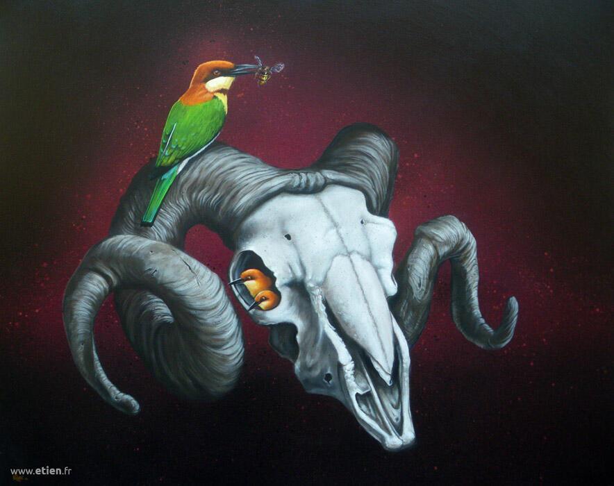 Acrylique sur toile<br/> 50cm x 70cm<br/> 2013
