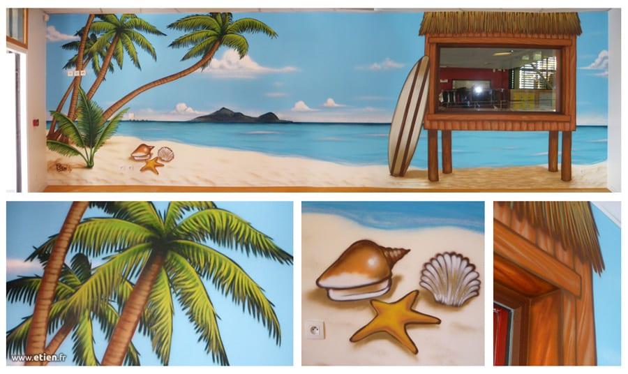 Fresque pour un foyer socio-éducatif<br/> Acrylique - 20m2 env.<br/> Collège de Goncelin (38) - 2013