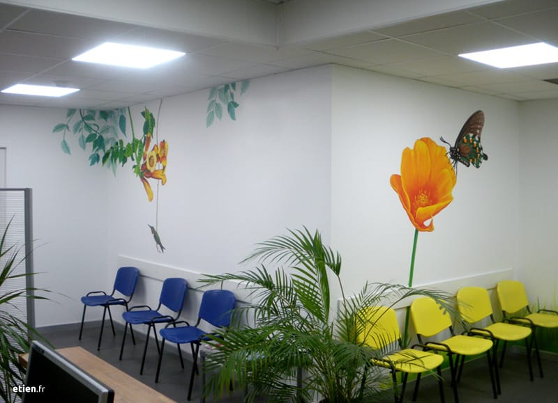 Fresques pour un cabinet de dentistes - Étien\'