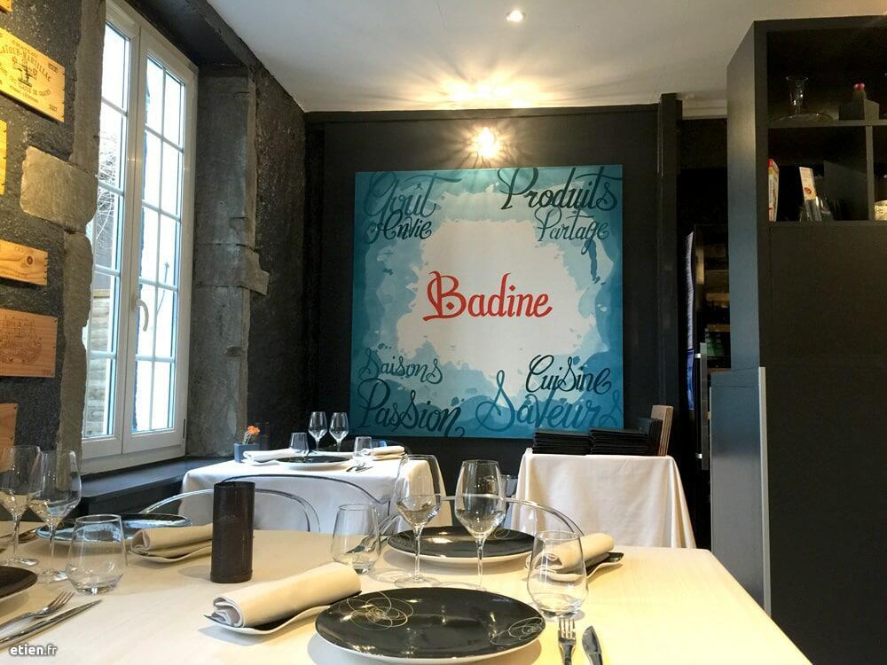 toiles pour le restaurant Badine