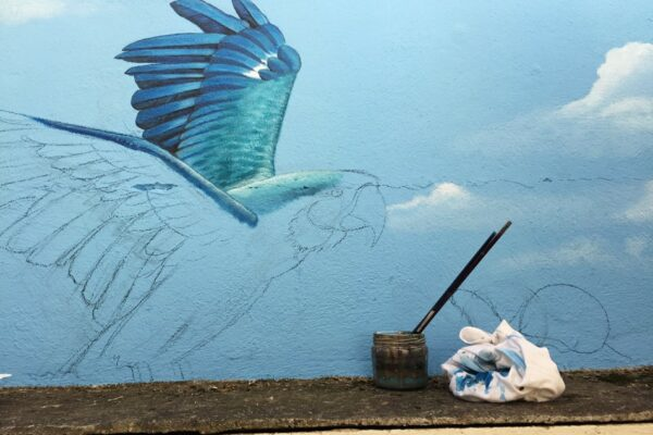 fresque perroquet
