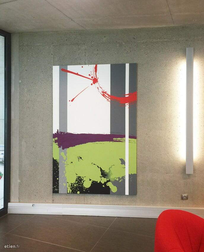 Acrylique sur toile</br> 2m x 1m30</br> 2016