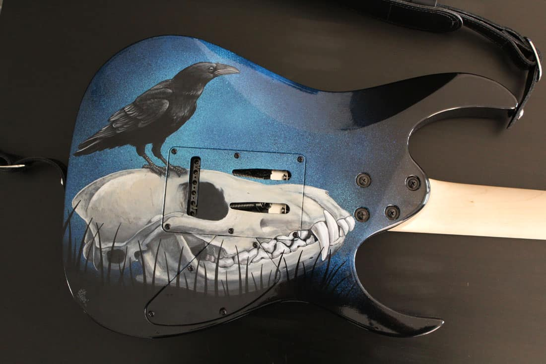 Custom de guitare (dos) Aérosol et acrylique 2017