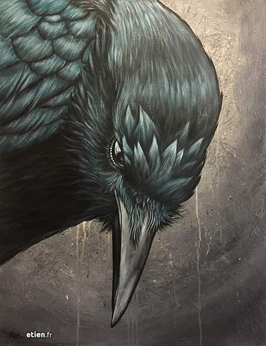 tableau corbeau