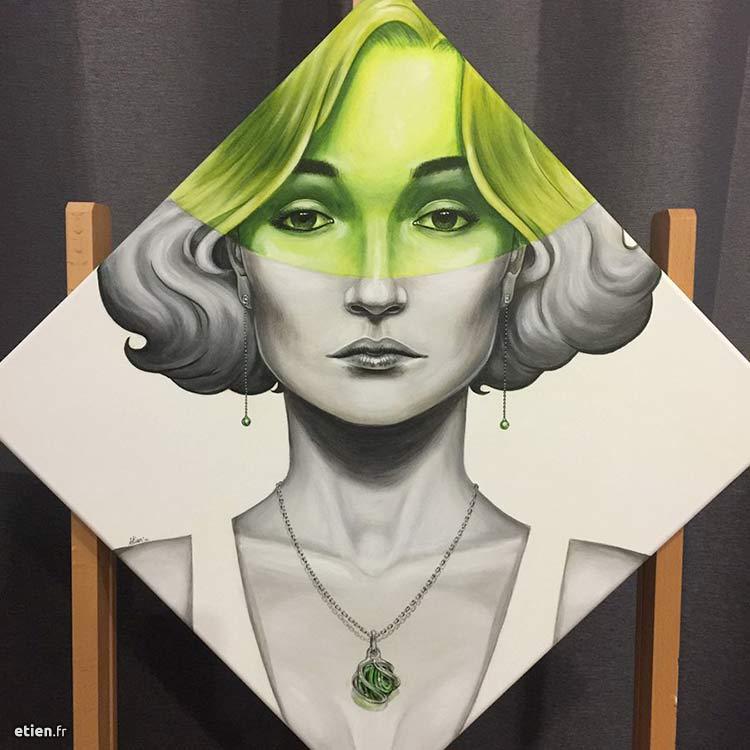 tableau portrait de femme réaliste