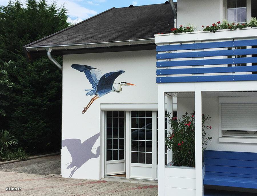 fresque heron