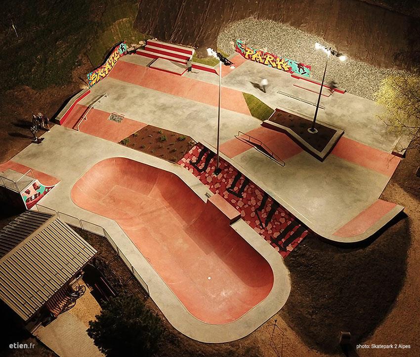skatepark les deux alpes